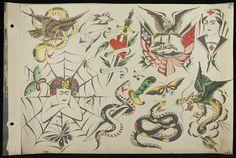 Vintage Tattoo Design, Tattoo Vintage, Old School Ink, Vintage Illustration Art, Vintage Flash, Traditional Tattoo Flash, Henry Ford, Cartoon Drawings, Tattoo Designs