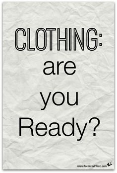 Clothing: are you Re