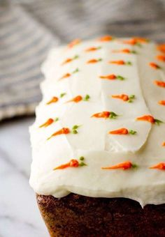 Carrot Loaf Cake for eastern desserts recipes cake 18 Delicious Easter Cakes That Are Sure to Impress Food Cakes, Cupcake Cakes, Carrot Cake Cupcakes, Gourmet Cakes, Mocha Cupcakes, Baking Cakes, Velvet Cupcakes, Cake Icing, Vanilla Cupcakes