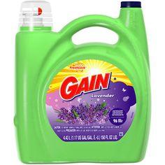 Gain With FreshLock Lavender Liquid Detergent 96 Loads 150 Fl Oz House Cleaning Tips, Cleaning Hacks, Cleaning Supplies, Liquid Laundry Detergent, Odor Remover, Lavender Scent, Gain, Bottle, Walmart