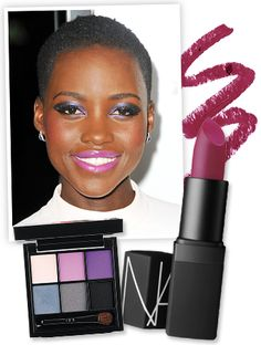 Just when we started to retire our bold lipsticks from the summer season, Lupita Nyong'O has us wanting to break out the brights to copy her gorgeous fuchsia-toned makeup! Find out how to get the look, with the exact products her makeup artist used.
