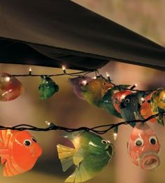 1000 images about crafting from recycled materials on for Fish string lights