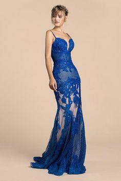 f3e1ece6cf6 Andrea and Leo lace evening gown - Mia Bella Couture