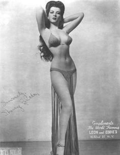 """Burlesque legend Sherry Britton. An 18"""" waist -- without a corset! Pretty much the ultimate """"bad girl"""" of the 1930s."""