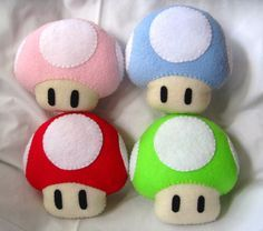 Cute little mushroom plushies!