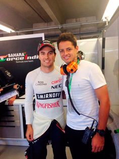 'Chicharito' Hernández y Carlos Slim Domit, porra de lujo para 'Checo' Pérez  en el Gran Premio de Canadá