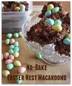 A snap to make and both adults and kids will love them! Chocolate, No-Bake, Easter Egg Nests. http://oldermommystillyummy.com