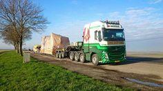 Volvo FH zwaar transport. speciaaltransport uitschuiftreler.