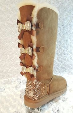 Bling Ugg Tall Bailey Bow Boots 08470bd08007