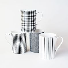 Well Dressed Mugs - Set of 4 | dotandbo.com