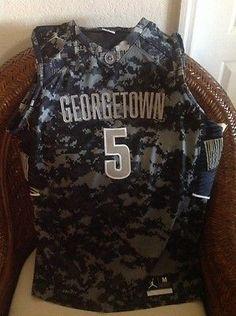 Jordan Dri Fit Brand Georgetown #5 basketball NCAA jersey new not tags SZ M Men