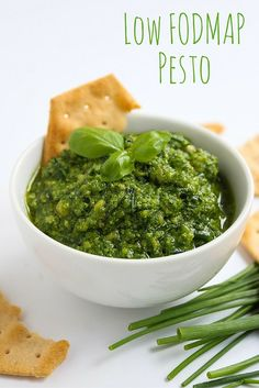 A garlic free, low FODMAP pesto made with chives and basil for the perfect IBS friendly sauce. Vegan & Paleo