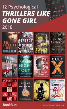 12 Books That Could Be This Summer's 'Gone Girl' This reading list of psychological thrillers like 'Gone Girl' is perfect for anyone looking for a surprising read with lots of plot twists. Good New Books, Best Books To Read, I Love Books, My Books, Good Mystery Books, Teen Books, Book Suggestions, Book Recommendations, Book Club Books