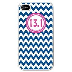 Running iPhone/Galaxy S3 Case 13.1 Zig Zag - This customizable protective case is the perfect accessory for any runner's phone. This great Cell Phone Case fits the iPhone 4, iPhone 4S, iPhone 5 and Samsung Galaxy S3.