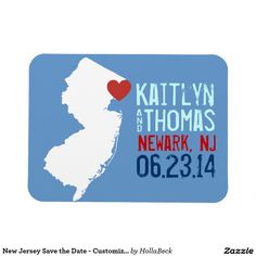 New Jersey Save the Date - Customizable City