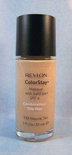 Revlon Makeup ColorStay Makeup Foundation Combo Oily Skin - Natural Tan 330 #Revlon #FaceMakeup