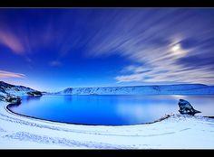 Blue hour at Lake Kleifarvatn by orvaratli, via Flickr