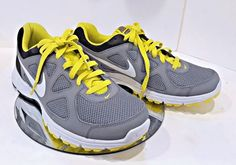 8c023a3252d2 NIKE Revolution MEN SHOES EXCELLENT condition SIZE 9.5 GREY  NEON YELLOW  Black  Nike  RunningShoes