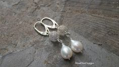 Perlenohrringe - Perlenohrringe 925 Silber - ein Designerstück von edelsteinreich bei DaWanda