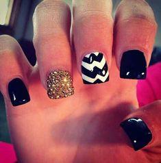 Beautiful acrylic nails.