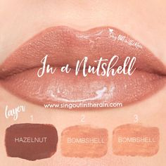 "Learn to mix it up. Use LipSense Mixology to create this ""In a Nutshell"" LipColor by layering Hazelnut & Bombshell. Make sure to premix to achieve this look. #lipsense #mixitup"