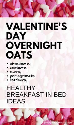 Valentine's Day healthy breakfast in bed ideas with fruit and oatmeal on tray: Valentine's day overnight oats with chia seeds and with coconut milk. Clean eating breakfast recipes, food and drink Clean Eating Oatmeal, Healthy Oatmeal Breakfast, Clean Eating Breakfast, Breakfast In Bed, Breakfast Ideas, Good Healthy Recipes, Healthy Breakfast Recipes, Healthy Foods To Eat, Clean Eating Recipes