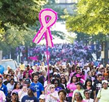 American Cancer Society- Making Strides Against Breast Cancer Crowd