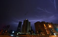 lightning Montevideo, Uruguay  (MARIANA SUAREZ / AFP / Getty Images)