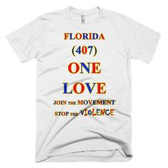 1159-T ... FLORIDA ... Area Code 407 ... ONE LOVE ... T-SHIRT