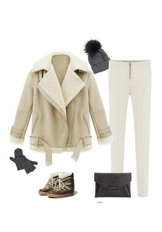Faux Shearling Jacket Ensemble for winter//