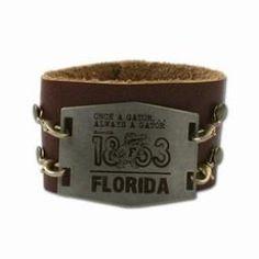 Florida Gators Vintage Metal Cuff Bracelet at End Zone Apparel