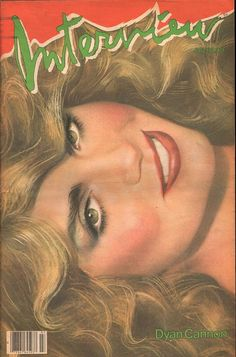 Dyan Cannon 1982 Andy Warhol's Interview Magazine cover designed and painted by richard bernstein