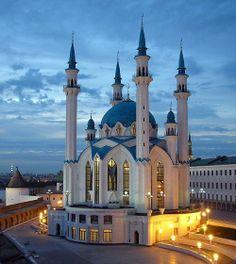 Mezquita de Kul Sharif en Kazán, Tartaristán, Rusia.