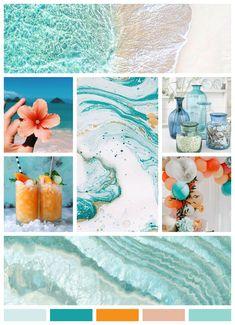 Website Design Inspiration, Color Inspiration, Brainstorm, Web Design, Mood Colors, Color Collage, Tropical Vibes, Aesthetic Collage, Colour Schemes