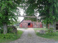 Traditional barn with open barn door. Handorf - Niedersachsen - Germany