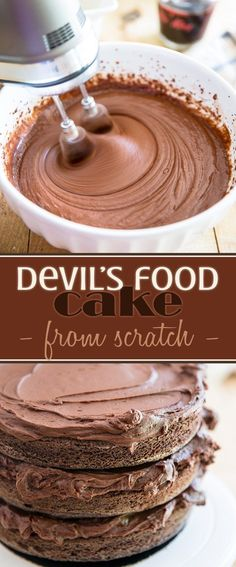 Forget about cake mix and boxes! Once you've made this Devil's Food Cake recipe from scratch, you'll never go back. It's simply the moistest and tastiest! The best part is, it's super easy to make.