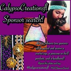 @calypsocreationsfl is close to picking her 3rd sponsor! #CCSponsorSearch #crochettop #crochetgoodies #localbusiness by veiled_hoops