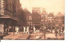 Alkmaar cheese market, Netherlands early postcard