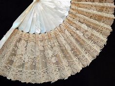 Antique lace fan