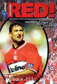 Middlesbrough vs Stoke City 1997 Cover Star Gianluca Festa