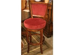 Red Upholstered Chair (3 Available)