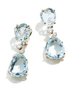 Pomellato Earrings ... Lovely Aquamarine