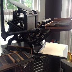 C tabletop press for sale with Hamilton typecase, various type, and everything you need to have a letterpress shop of your own. Comment for more info.