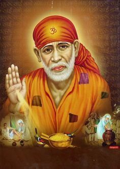Shirdi Sai Baba - Hindu Posters (Reprint on Metallic Paper - Unframed)