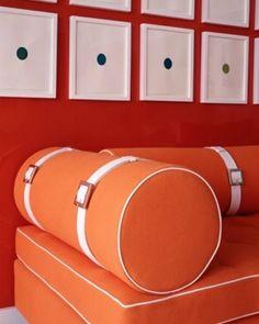 #tangerine #orange #interiors #Sewcratic