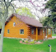 I want log cabin siding for the new house