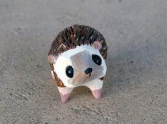 Tiny hedgehog Handmade miniature polymer clay by AnimalitoClay