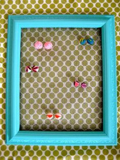 DIY Picture Frame Earring Holder DIY Home Decor Crafts