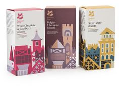 Biscuit packaging with designs by Adrian Johnson. ©Adrian Johnson/Studio H