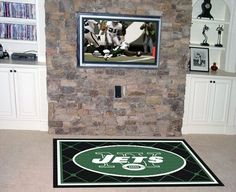 Fanmats New York Jets 4x6 Rug  https://allstarsportsfan.com/product/fanmats-new-york-jets-4x6-rug/  NFL® team rug Plush 28-oz nylon Measurements: 4-ft x 6-ft